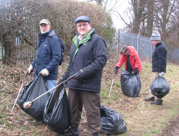 Jason Billin & Liberal Democrat March litter pick